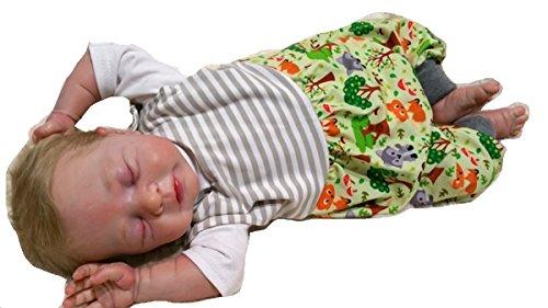 Atelier MiaMia - Mitwachs Strampler Baby Kind von 50, 56, 62, 68, 74, 80, Designer Strampler Limitiert !! Waldtiere (68)