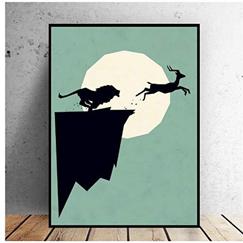 Maak een sprong Art Canvas Poster Home Decoratie Schilderen Geen Frame Print op doek-50x70cmx1pcs -Geen Frame