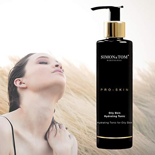 Simon & Tom PRO SKIN - HYDRATION - gezichtstoner voor de vette huid, ultra-hydraterende, verfrissende en zuiverend. Voor een zachtere en frissere huid, 200 ml