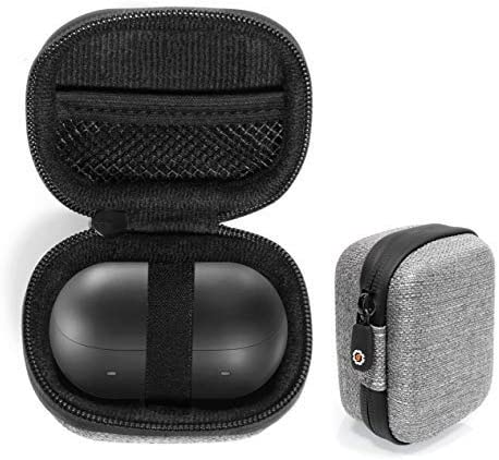 popular Tweed Gray getgear Case for Samsung Galaxy discount Buds, Pro, Live, high quality Plus, Customized case for Bluetooth True Wireless Earbuds Charging case, mesh Accessory Pocket outlet sale
