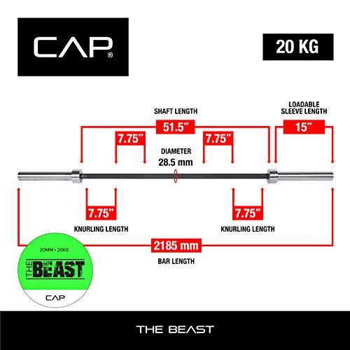 "CAP Barbell ""The Beast"" Bar | 7-Foot Olympic Barbell"
