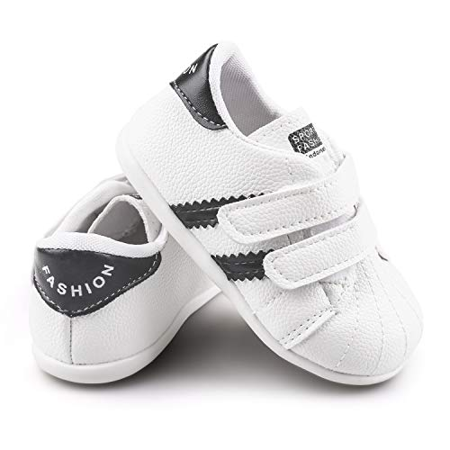 Infant Moccasins - Unisex Newborn Baby Boys Girls Soft Sole Crib Toddler First Walker Shoes Non-Slip Infant Prewalker Toddler Sneaker Shoes(Black,6-12month) T16