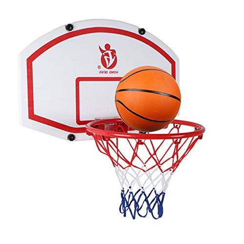 Canasta Tableros de Baloncesto Niños Adultos Aro de Baloncesto, Portátil Interior al Aire Libre Juegos de Disparos sobre la Puerta Borde de Red de Aro, con Aro de 39 cm de Diámetro