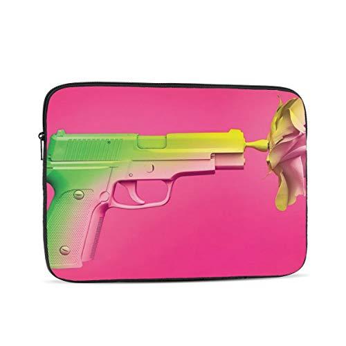 Pink Gun Laptop Sleeve Case Computer Bag Laptop Sleeve Bag 15 inch