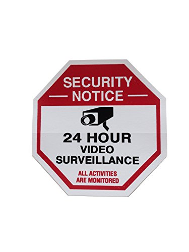 8 Red Octagon-Shaped Video Surveillance System Security Door