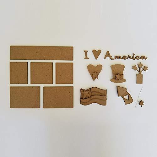 Foundations Dcor, Shadow Box Kit - I Love America