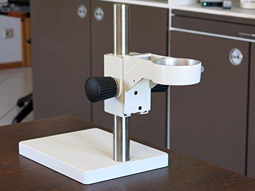 inverses Mikroskop-Tischstativ, Standfuß mit Stativsäule 300mm und Trieb