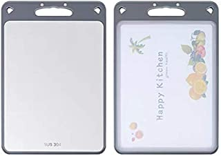 FLORA GUARD Cutting board stainless steel plastic double-sided cutting board non-slip and easy to grip for clean kitchen,s...