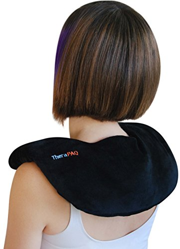Neck Warmer Microwavable Heating Pad by TheraPAQ | Weighted Neck and Shoulder Heat Wrap  Best for Natural Moist Heat Therapy or as Cold Pack  Reusable Microwave Heated Wrap  NonScented