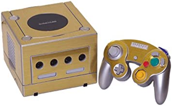 Brushed Gold - Air Release Vinyl Decal Faceplate Mod Skin Kit for Nintendo Game Cube Console by System Skins