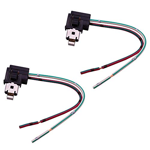 HUIQIAODS H1 H3 Headlight Fog Light Bulb Extension Socket Wire Harness Connector Holder(Pack of 2)