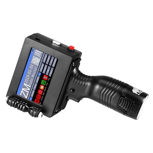 Stampante portatile a getto d'inchiostro, codificatore online portatile per etichette da 4,3 pollici, touch screen a mano 600 DPI HD Supporto per cartucce ad asciugatura rapida U Disk Import