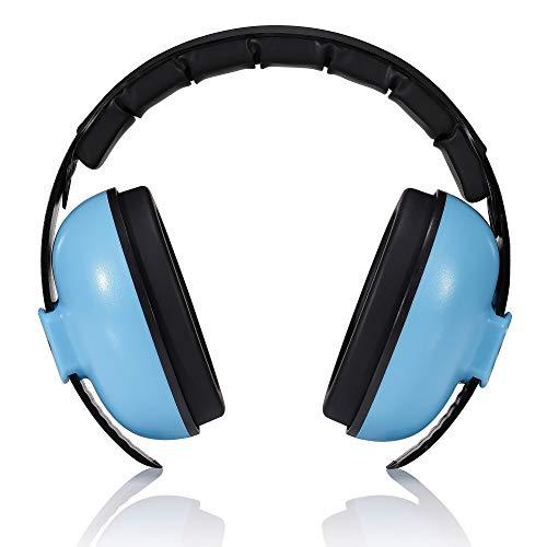 Roynoy - protection auditive bébé de 0-2 ans. cache-oreilles de bruits pour bébé - protection bruit bébé - Bleu et rose, bleu