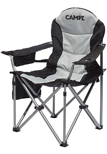 CAMPZ Deluxe Faltstuhl Black/Grey 2021 Campingstuhl