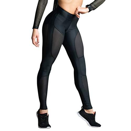 Pantalones de Yoga para Mujer, Costuras en Punto pantalón de chándal de Cintura Alta Mallas Deportivas Leggins Deportes para Running Pilates Fitness riou