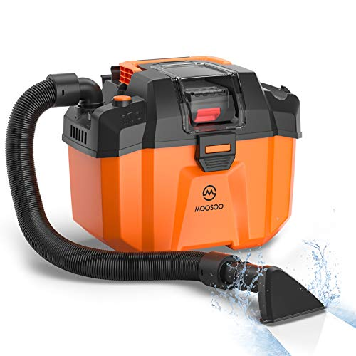 MOOSOO Shop Vacuum Wet and Dry, 2.64 Gallon Cordless Shop Vac with Blower Function, Powerful Suction...