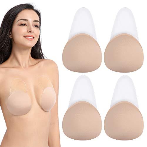 Makone Bruststraffung Abdeckung Bra- Silikon Pasteten Bruststraffung Wiederverwendbar Unsichtbar Klebstoff BH Atmungsaktive Brustwarze Abdeckung Für Mädchen Damen (C-D)