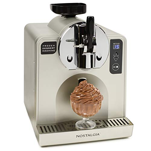 Nostalgia FDM1 Stainless Steel Easy-Dispensing Soft Serve & Frozen Dessert Machine, Makes 1 Quart of...