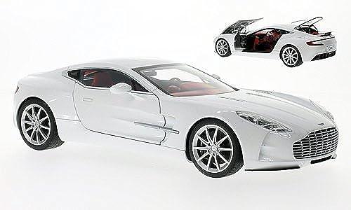 Aston Martin ONE-77, met.-Weißs , 2009, Modellauto, Fertigmodell, AUTOart 1 18