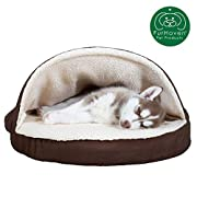 PET FRIENDLY DESIGN: The bed cover features an attached blanket that can be used as is or converted into a tented burrowing cave, with either configuration providing a cozy nestling space for pets to curl up and snuggle in warmth SLEEP SURFACE: The i...