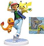 Figura de acción de Anime Figura de Pokémon Ash Ketchum con Pikachu Figuras de Batalla de Pokémon Fi...
