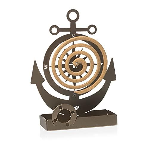 Arti & Mestieri Ancora - Porta zampirone da Tavolo di Design 100% Made in Italy - Ferro, 17 x5 x 19 cm - Bronzo