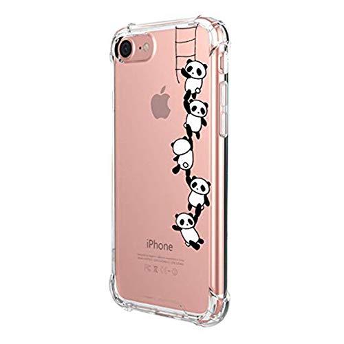 Alsoar - Cover trasparente per iPhone SE 2020/iPhone 7, iPhone 8, ultra sottile e graziosa, motivo: disegno antiurto e antigraffio, colore: Panda)