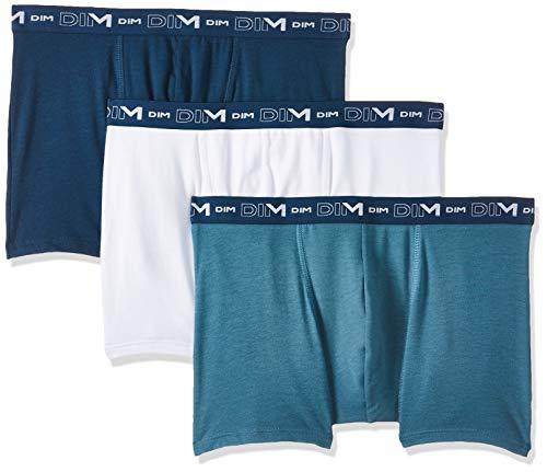 Dim Boxer Coton Stretch X3, Multicolor (Blanc/Vert 87D), XX-Large (Pack de 3) para Hombre