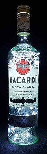 Bacardi Rum - Lámpara para botella (80 ledes, luz blanca fría)
