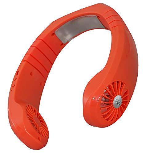SHAIRMB Ventiladores USB para Colgar Cuello, Ventilador Personal Sin Cuchillas Manos Libres, Ventilador PortáTil con Control Viento 3 Velocidades y Recargable, para Viajes, Transporte Deportivo,Azul