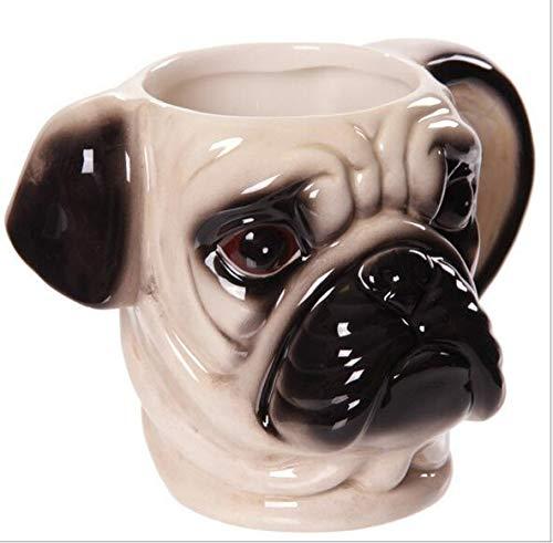 Infinitely Great Tasse à café en céramique Motif tête de carlin - blanc