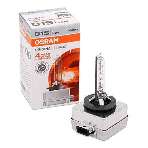 OSRAM XENARC ORIGINAL D1S faro HID allo xeno, lampada a scarica, qualità OEM, 66140, temperatura di colore 4150 K, scatola di cartone (1 pezzo)