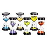 Reloj de arena 6 colores 1 min / 3 minutos / 5 minutos / 10 minutos / 15 minutos / 30 minutos Temporizador de reloj de arena Para niños, aulas, cocinas, decoraciones para el hogar, regalos creativos