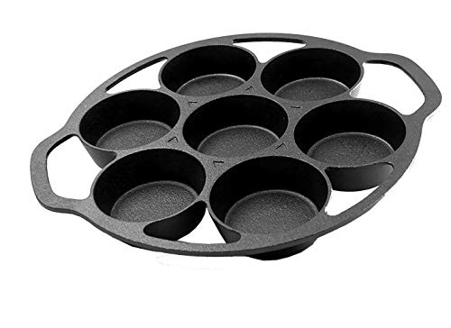 Pre-seasoned Cast Iron Cake Pan for Baking Biscuits - Mini Cake Pan