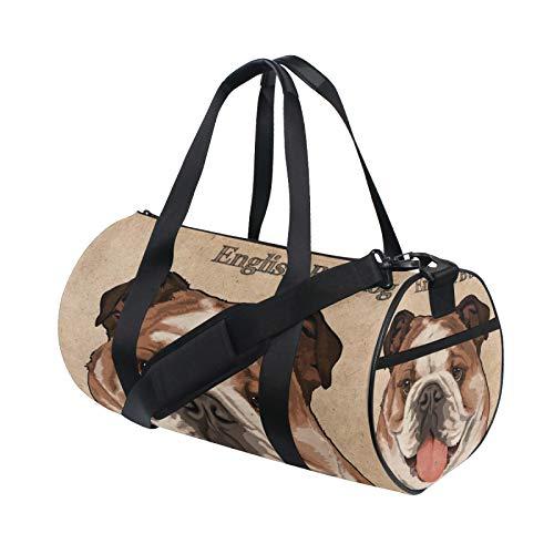 Borsone a spalla con animali Bulldog inglese, pratica borsa sportiva da palestra per uomini e donne