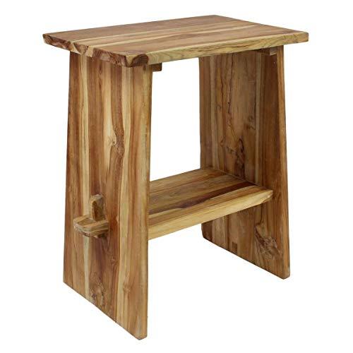 Oriental Galerie Waschtisch Holz Waschbeckenunterschrank Tisch Badmöbel Badezimmermöbel Teakholz Natur 60 cm Breite