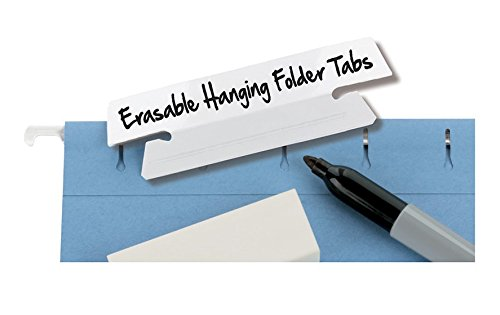 Smead Erasable Hanging File Folder Tabs, 1/3-Cut, White, 25 per Pack (64627) Photo #3