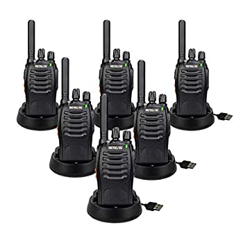 Retevis 6 Pack Walkie Talkie, 400-470 MHz Frequency Range, 16 Channel
