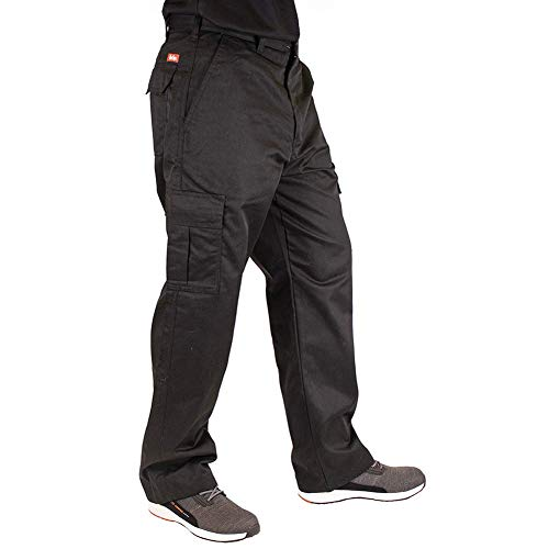Lee Cooper Herren Cargo Trouser Hose, Black, 36W/33L (Long)