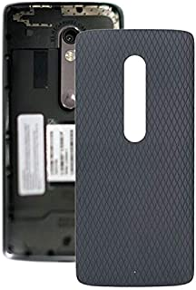 Mobile Phones Communication Accessories Battery Back Cover for Motorola Moto X Play XT1561 XT1562(Black) (Color : Grey)