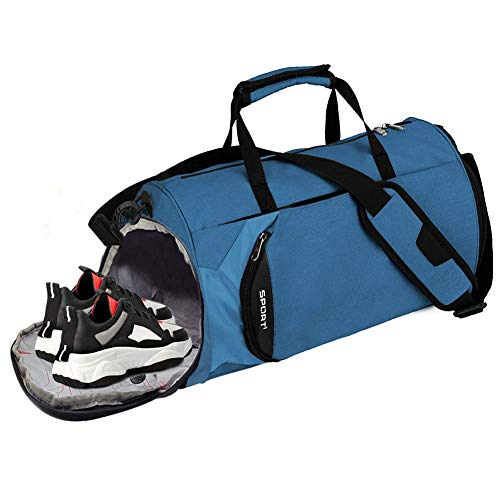 Loowoko Gym Bag, Sports Gym Duffel Bag with Dry Wet Pocket and Shoes Compartment Travel...