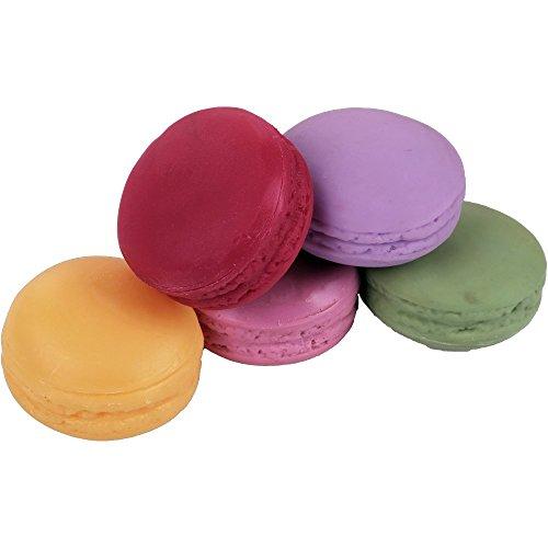 dekopartners.eu Macarons 5 Stück Bunt Durchmesser 4,5 cm Lebensmittelattrappe Fake Food Attrappe