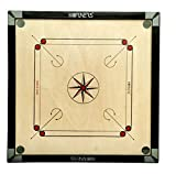 KORNERS Carrom Board (Round Pocket 32 Inches) Full Size