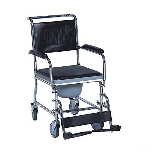 Z-SEAT Rollkommode/Über-Toilettenstuhl mit gepolstertem Sitz und Rückenlehne - höhenverstellbar