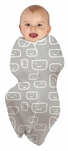 Bébé Studio Cocoon Swaddle Pouch Pod visages, 0–4 m