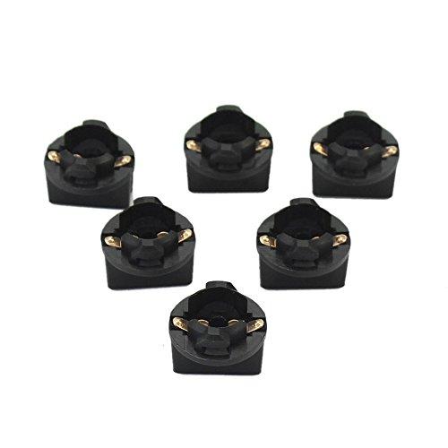 Pinzhi 6 morceaux T10 Prise Instrument Panel Cluster Fiche Ampoule tableau de bord plastique