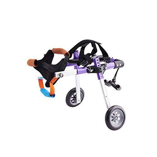 Einstellbarer Hunderollstuhl für Hinterbeine Rehabilitation, Rollstuhl für Rückenbeine Leicht (Size : X-Small)