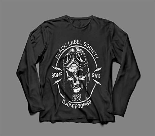 Camiseta/Camisa Manga Longa Feminina Black Label Society Tamanho:M;Cor:Preto