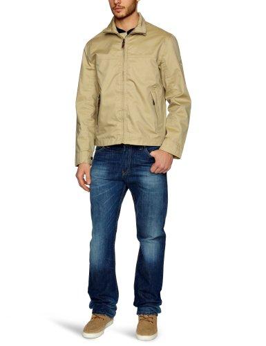 Timberland Clothing Herren Regenjacke , Kapuze  - Braun - Sand - Small