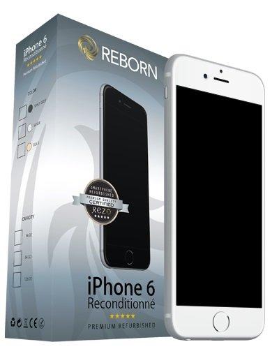 Reborn Iphone 6 Reconditionné Smartphone débloqué 4G (Ecran: 4,7 Pouces - 16 Go - Nano-SIM - iOS) Argent
